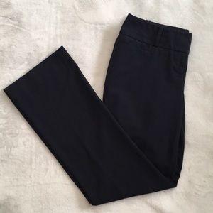 The limited Sz 4 navy blue Drew Fit trouser pants